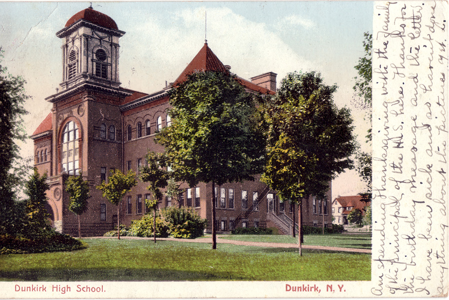 Dunkirk High School postcard