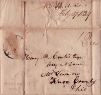 Cover to Hubbard letter